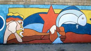 Murales. L'offerta del pesce