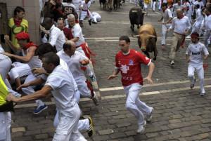 Pamplona. Corsa dei tori alla festa di S. Firmino