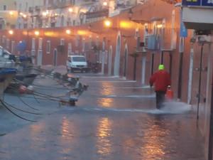Pioggia e vento a Ponza