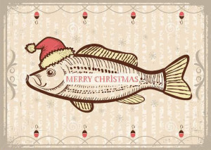 http://www.dreamstime.com/royalty-free-stock-photo-christmas-fish-santa-red-hat-vintage-drawing-ca-card-old-texture-new-year-image33848295
