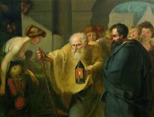 Diogene di Sinope cerca l'uomo