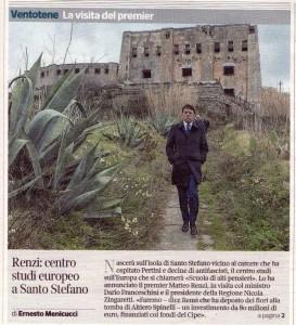 Dom - Renzi a Vent - Corriere della Sera Cronaca Roma  - Richiamo in prima