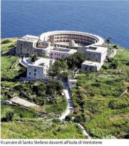 Il carcere di Santo Stefano. Foto da Repubblica