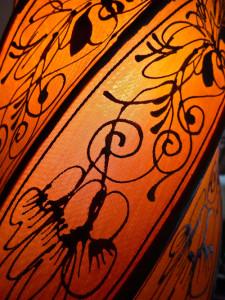 orange lamp in spices garden restaurant sofitel metropol hanoi -