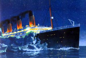 Titanic meets the iceberg