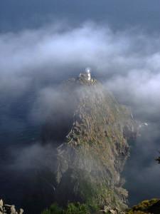 Faro della Guardia. Nebbia