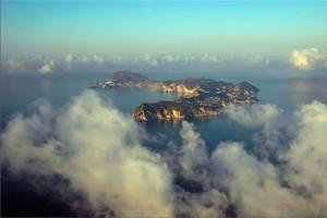 Ponza. Aerial view