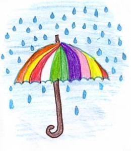 disegno sulla pioggia