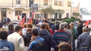 manifestazione sindacale ad Ischia