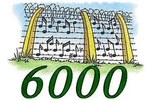 6000. Barbed wire