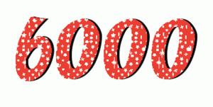 6000. Sprinkle stars