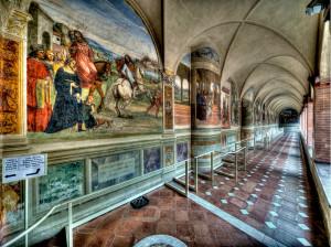 Chiostro Grande dell'Abbazia di Monte Oliveto Maggiore