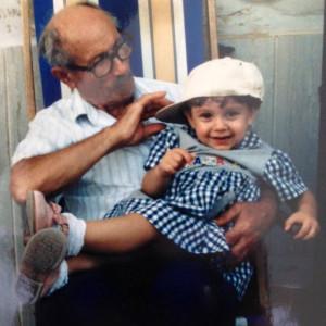 Martina piccola e Nonno Aldo