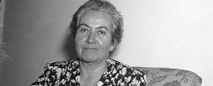 Chilean poet Gabriela Mistral is seen at Fortin de las Flores, Mexico, Dec. 9, 1948 where she is recovering from a heart attack.  She is the Nobel Prize winner for poetry.  (AP Photo)