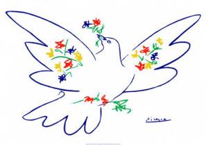 la colomba della pace di Picasso