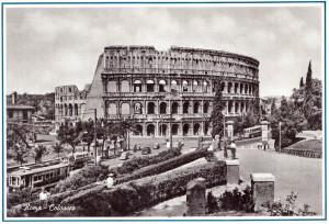 Cartolina Colosseo. Anni '50