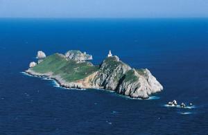 Veduta dell'isola e del faro di Palagruza costruito nel 1875