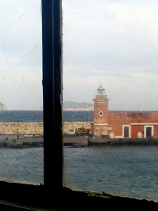 L'uscita dal porto