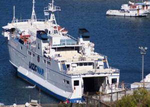 Una nave Laziomar. Foto da h24notizie.com