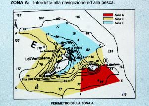 Zona A dell'AMP delle isole di Ventotene e Santo Stefano