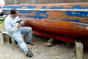 il restauro di una barca di 45 anni