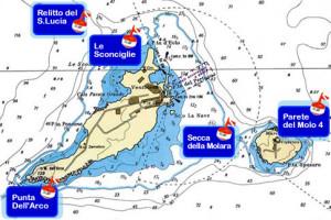 piantina AMP isole di ventotene e Santo Stefano
