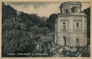 Caserta-Parco-reale-La-Castelluccia. Foto d'apoca