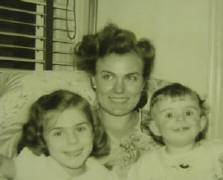 Catherine Raia with two oldest children. 1953