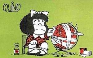 Mafalda e il mappamondo