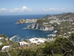 Ponza coastal view.