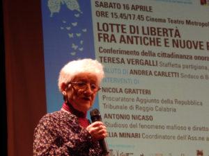 Teresa Vergalli. Cittadinanza-onoraria -di-Bibbiano