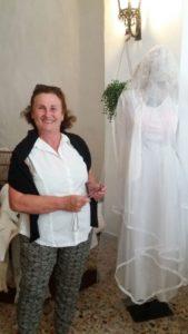 Adele Scotti col vestito di sua madre