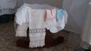 Culla con asciugamani