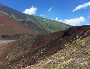 Discesa dal cratere Silvestri