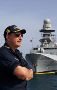 Il Contrammiraglio Salvatore Vitiello, Comandante della Terza Divisione Navale