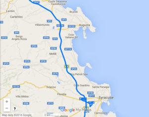 Mappa Sicilia sud-orientale