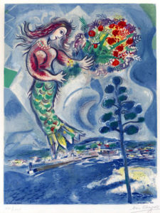1. Chagall. Sirène with pine from Nice and The Côte d'Azur 1967