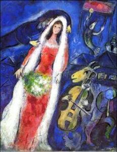Chagall. La Mariée. 1950