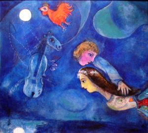 Chagall. Le coq rouge dans la nuit. 1944