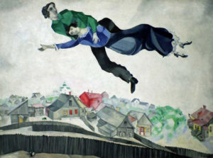 Chagall. Over the town