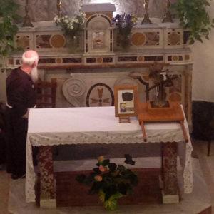 Le reliquie sull'altare