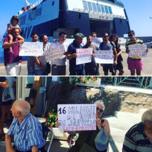 Protesta commercianti Ventotene. Foto h24notizie.com