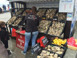 Chioschi di ostriche a Cancale