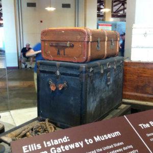 Bauli al Museo di Ellis ISland
