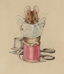 Frontispiece: The Tailor Mouse circa 1902 by Helen Beatrix Potter 1866-1943
