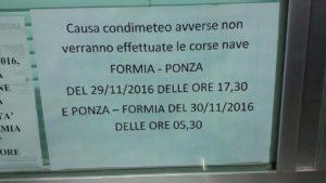Avviso alla biglietteria Laziomar di Formia