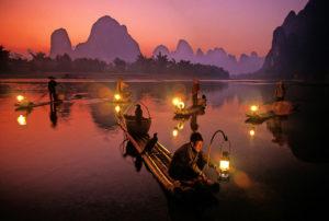 La-pesca-col-cormorano-sul-fiume-Li.-A-Guilin