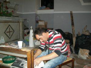 Silverio Avellino, l'architetto, all'opera.