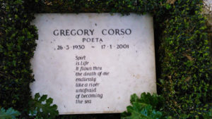 Gregory Corso. Lapide