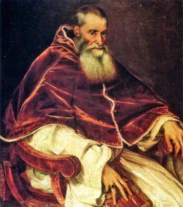 Paolo III in un dipinto di Tiziano